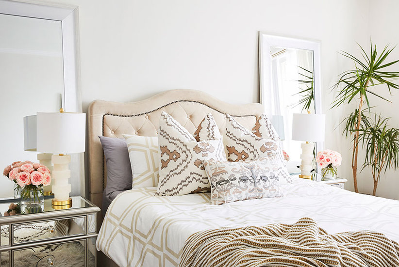 Before after a bedroom that s neutral but far from boring real simple Home goods decor pinterest