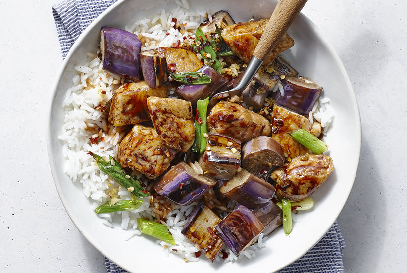 Spicy Chicken And Eggplant Stir Fry Real Simple