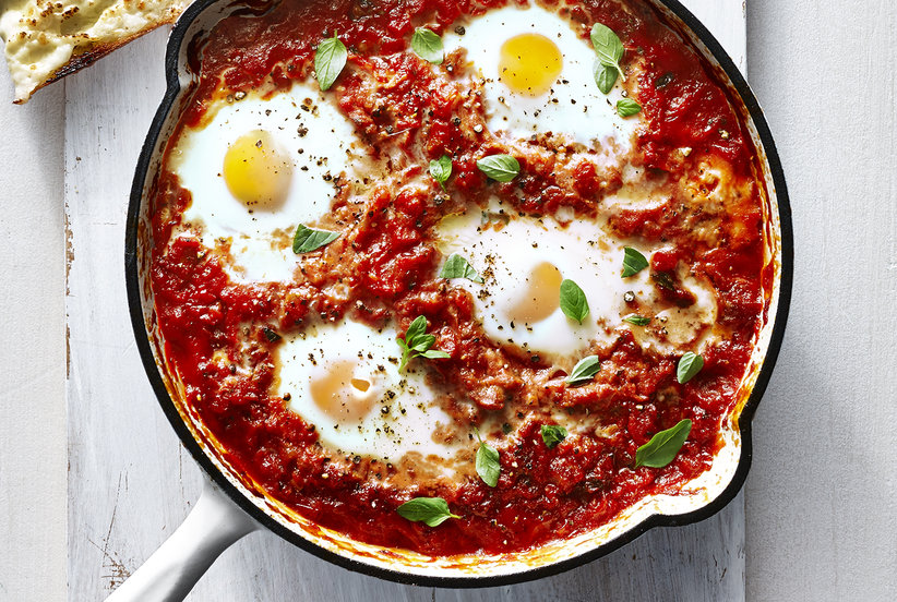 italian baked eggs recipe real simple