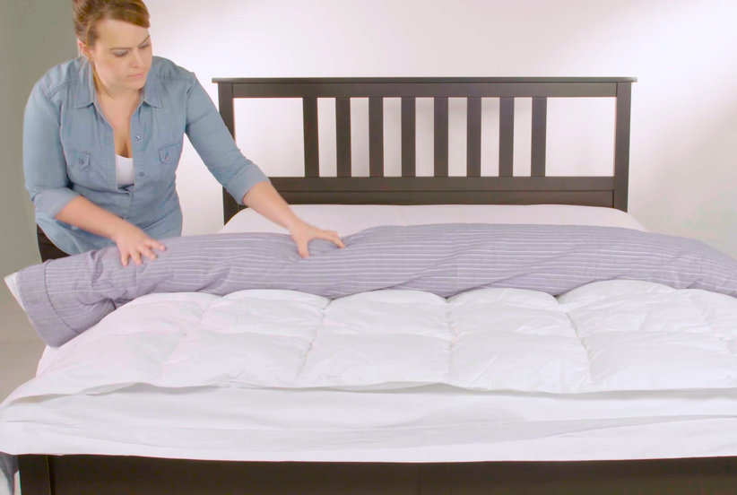 whats a duvet cover Video: How to Put on a Duvet Cover | Real Simple whats a duvet cover