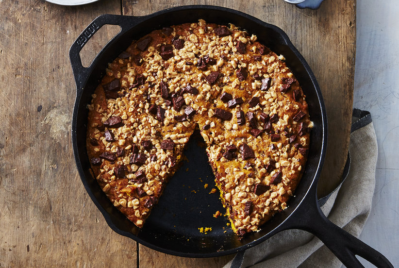 Pumpkin, Chocolate, and Toffee Skillet Cookie | Real Simple