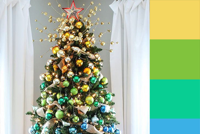 4 Christmas Tree Color Palette Ideas