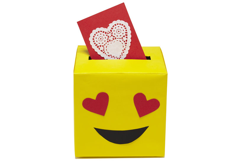 Heart Eyes Card Box Valentines Day Card Boxes Real Simple
