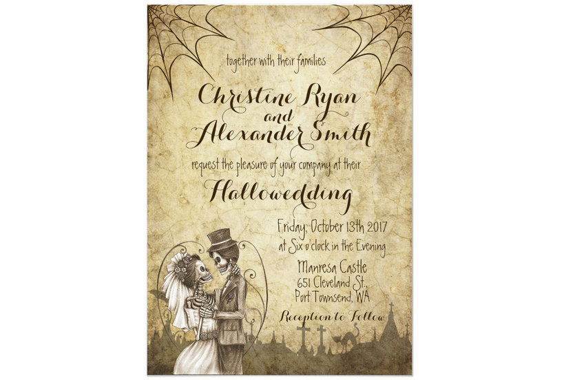 Halloween wedding invitations your guests will love real simple filmwisefo