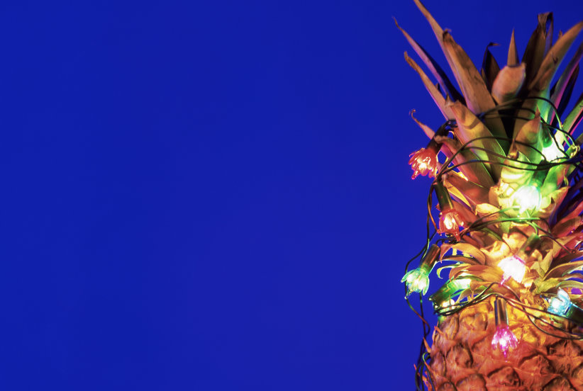 forget christmas trees decorated pineapples are the new instagram trend real simple