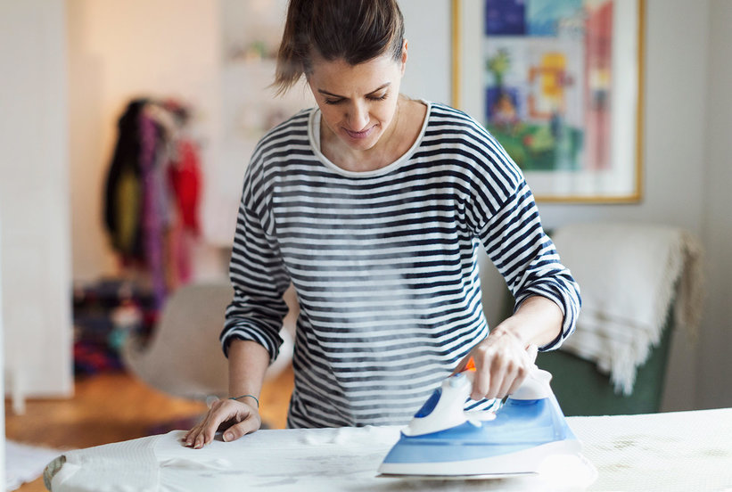 The One Mistake You're Making When Ironing