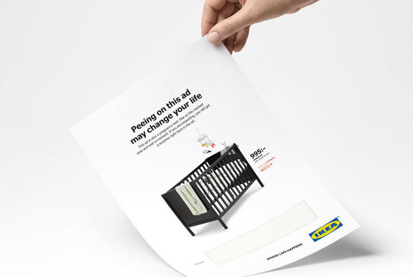 IKEA Created a Strange New Ad That Doubles as a Pregnancy Test