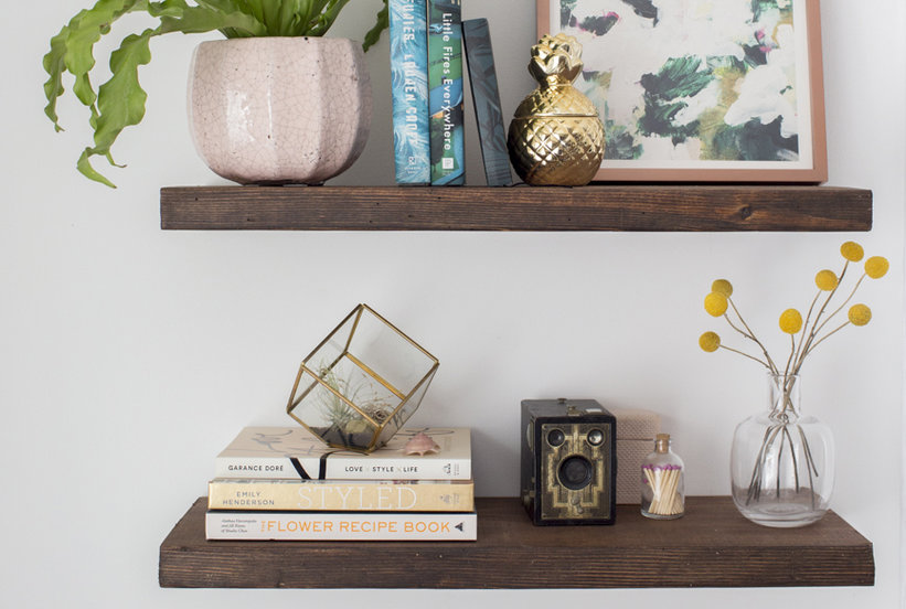 DIY Floating Shelves How To Build Floating Shelves Real Simple Gorgeous How To Do Floating Shelves