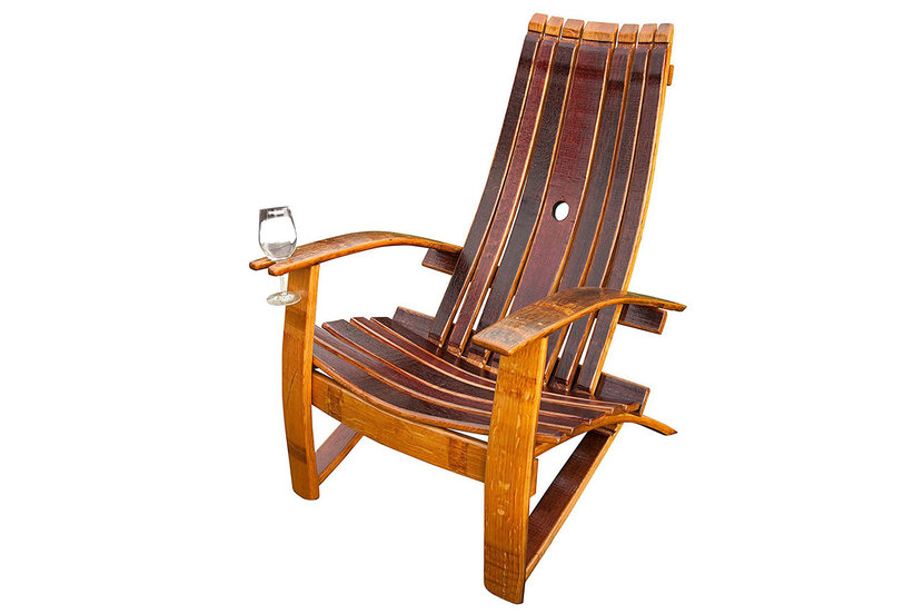 This Genius Chair Has a Cup Holder For Your Wine