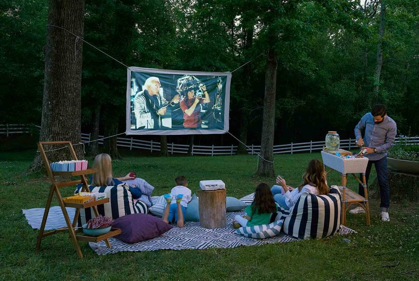 The Easiest Way to Build Your Own Backyard Movie Theater