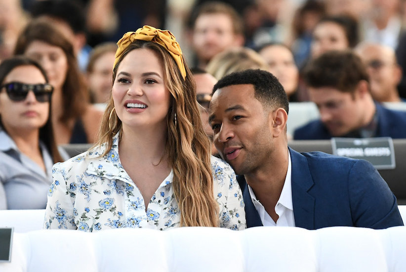 John Legend Shared a Photo of Wife Chrissy Teigen Pumping Breast Milk With the Cutest Message