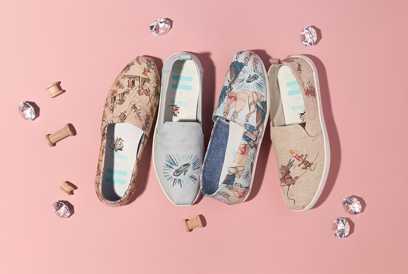 Finally, Comfy Princess-Inspired Kicks: Disney Just Dropped Its First Collection With TOMS