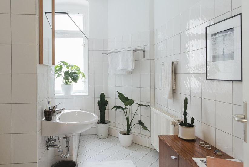 deep clean your bathroom in 7 steps real simple - Bathroom Tile Installation