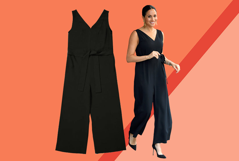 Meghan Markle's Little Black Jumpsuit Is Surprisingly Affordable (and Still in Stock)
