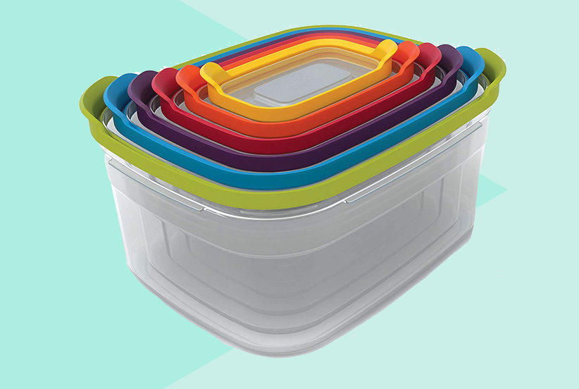 Amazon Shoppers Say These Snap-Together Nesting Food Containers Are the Key to an Organized Kitchen