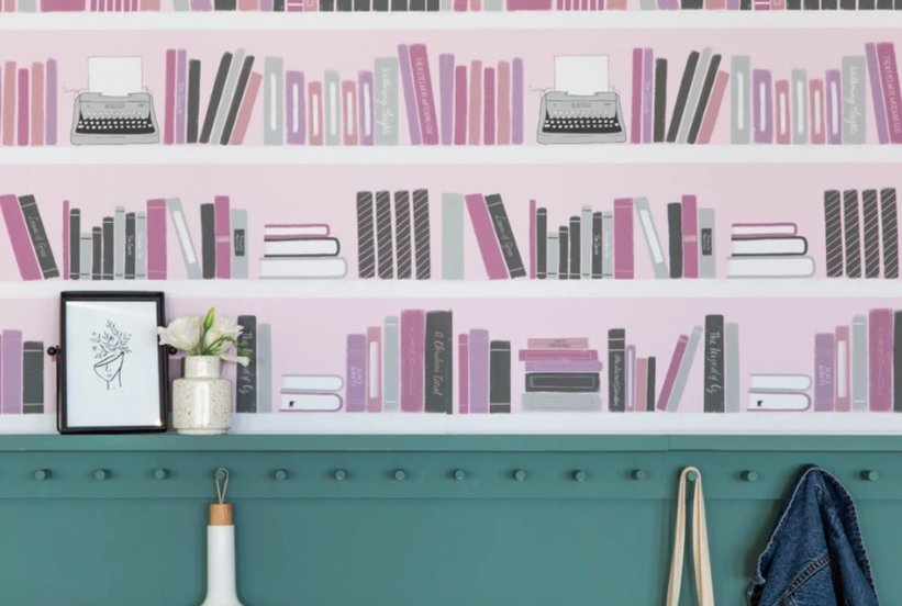 This Removable Wallpaper Was Made for Book Lovers