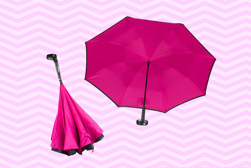 This Reversible Umbrella Holds My Coffee Cup and Makes Rainy Mornings a Little Easier