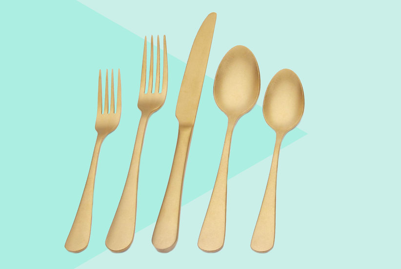 Amazon Shoppers Say They Always Get Compliments on This Gold Flatware