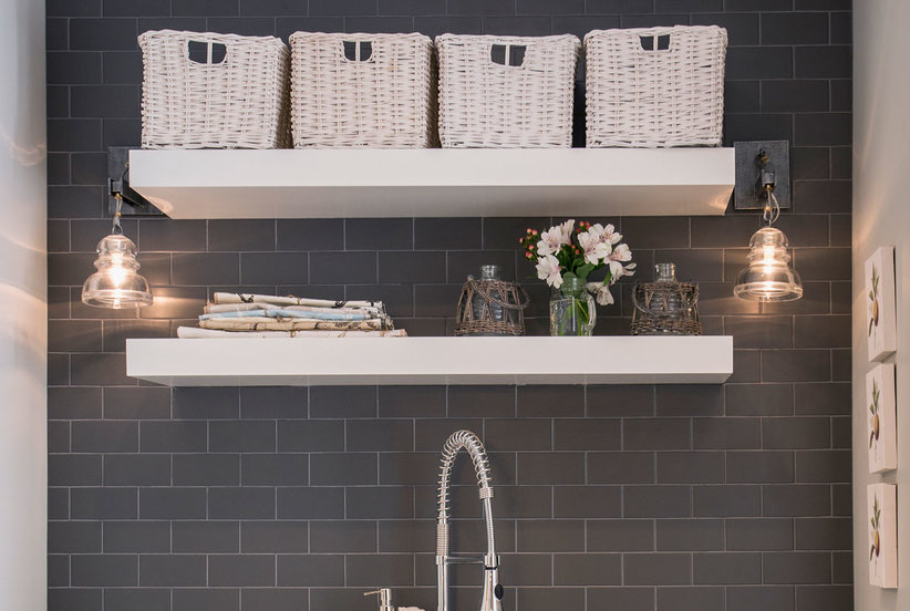 The Trending Bathroom Shelf Idea You're Going to Want to Try This Year