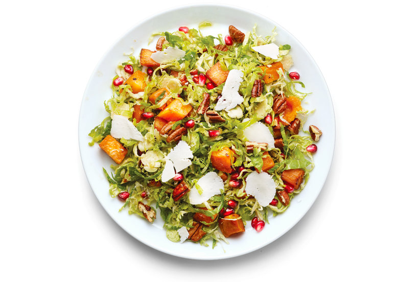 Brussels Sprouts, Sweet Potato, and Pomegranate Seed Salad ...