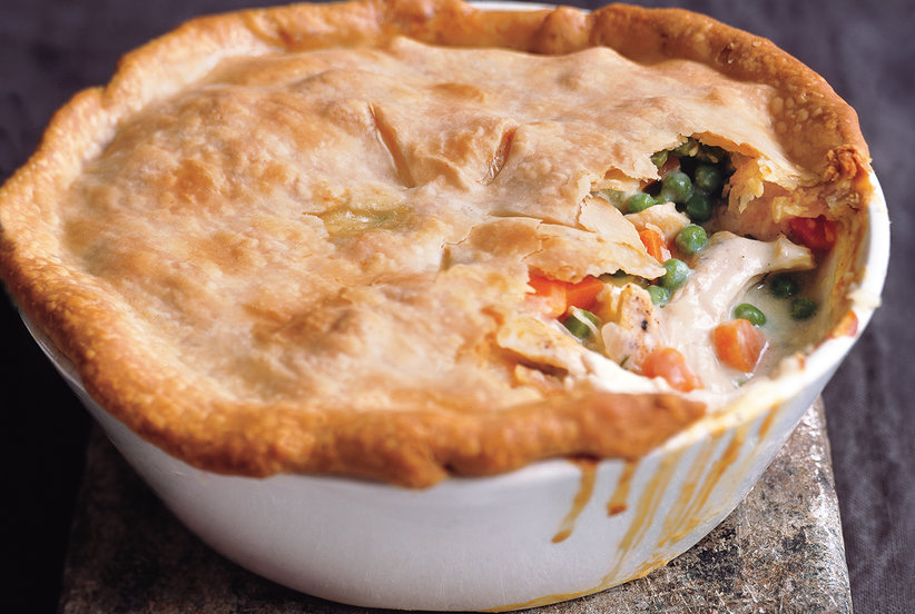 This pot pie s velvety smooth sauce is a blend of olive for How to get spaghetti sauce out of a white shirt