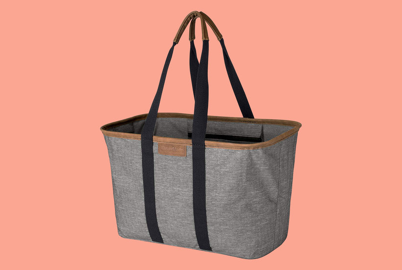 My New Favorite Amazon Purchase Is This Reusable Grocery Bag That Folds Completely Flat