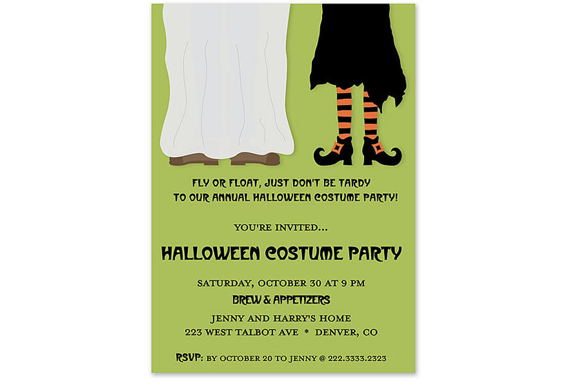 12 halloween party invitations real simple stopboris Choice Image
