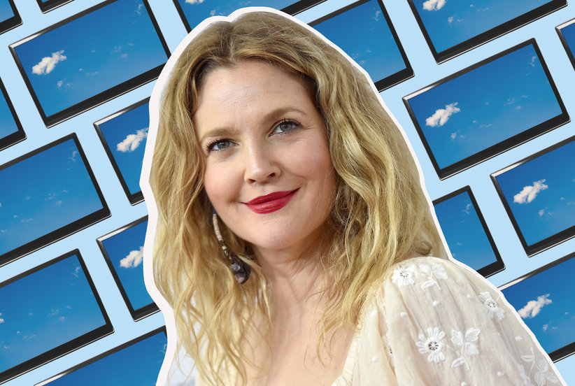 Drew Barrymore Shared on Instagram Her Brilliant Hack for Hiding a TV