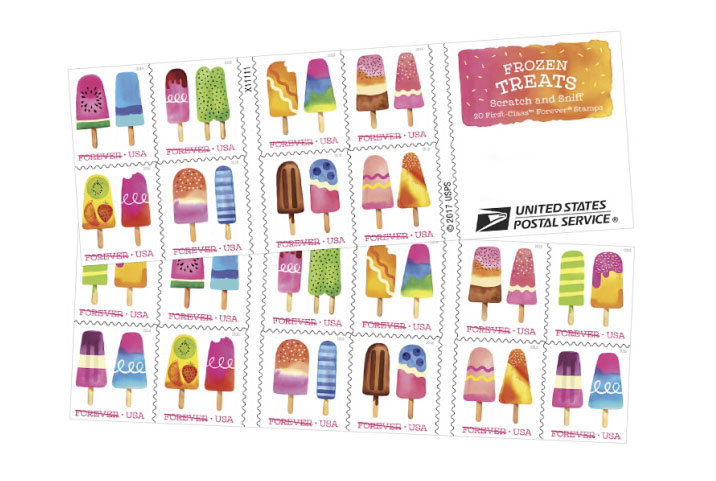 Scratch-and-Sniff Postage Stamps Have Arrived to Make Your Bills Smell Like Popsicles
