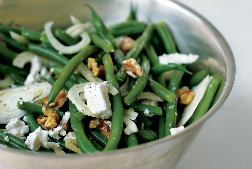 Green bean salad with walnuts fennel and goat cheese for Easy thanksgiving green bean recipes