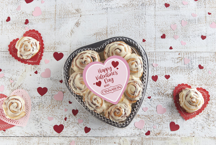 Cinnabon To Deliver Heart Shaped Boxes Of Cinnamon Rolls