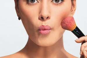 how to apply blush  real simple