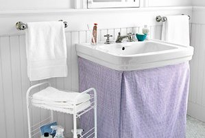 bathroom sink skirt a sink skirt hides a multitude of sins you can easily 11409