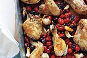 Roasted Chicken With Tomatoes and Olives Recipe   Real Simple