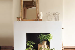 Unused Fireplace dress up an unused fireplace | real simple