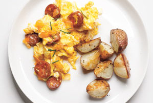 Scrambled Eggs With Chorizo and Onions | 10 Egg Recipes | Real Simple