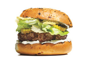 Burgers With Onion Dip and Potato Chips | 10 Gourmet Burger Recipes ...