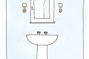 Bathroom Wall Sconces Placement : Size and Placement Interior Lighting Tips Real Simple