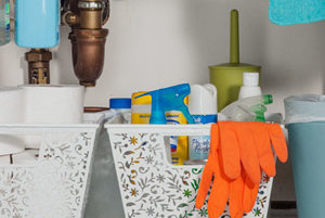Use A Tension Rod To Store Cleaning Products 10 Cheap
