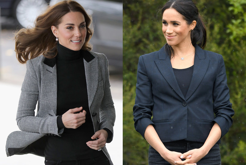 5cf6eed1da679 Meghan Markle and Kate Middleton Are Both Sporting Blazers This Fall—Here s  How to Copy