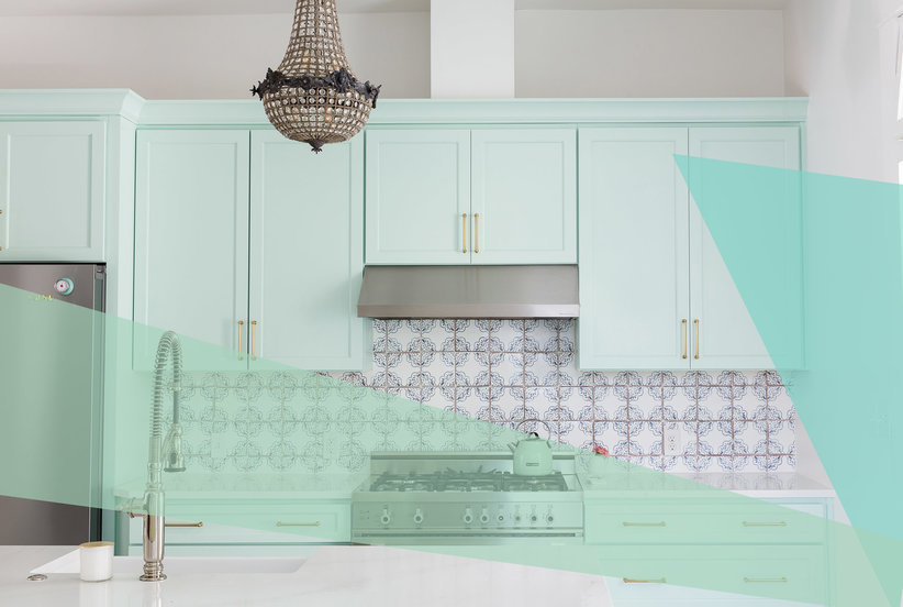 Mint Green Is the Unexpected Cabinet Color Your Small Kitchen Needs