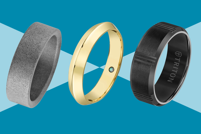 20 Men's Wedding Rings He'll Be Excited to Wear Every Day