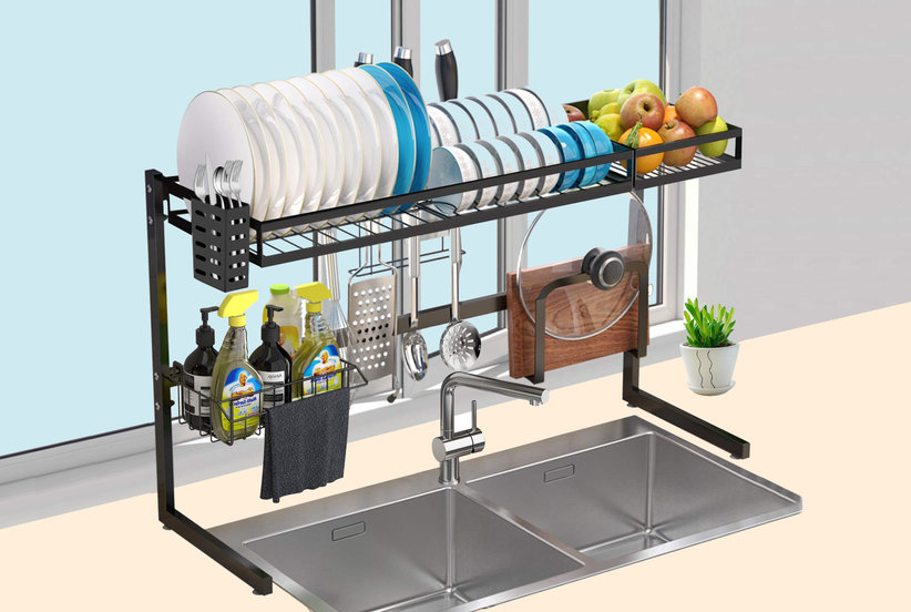 This Super Sturdy Drying Rack Will Keep Clutter Off Your Countertops