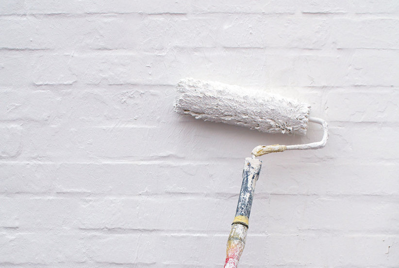 Painting Exterior Brick: What You Need to Know on painting crown molding white, painting front porch white, painting wood floors white, painting fireplace white, painting ceiling fan white, painting hardwood floors white, painting living room white, painting stainless steel appliances white, painting tile roof white,