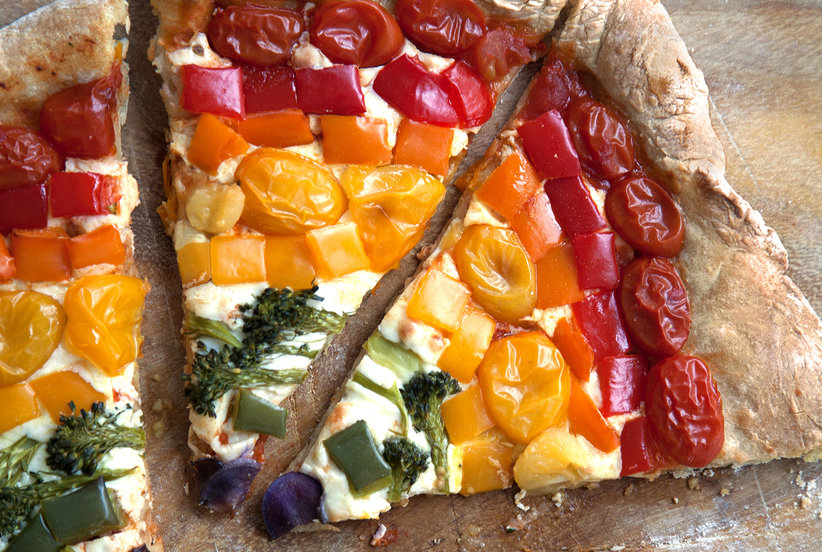 Rainbow Pizza | Real Simple
