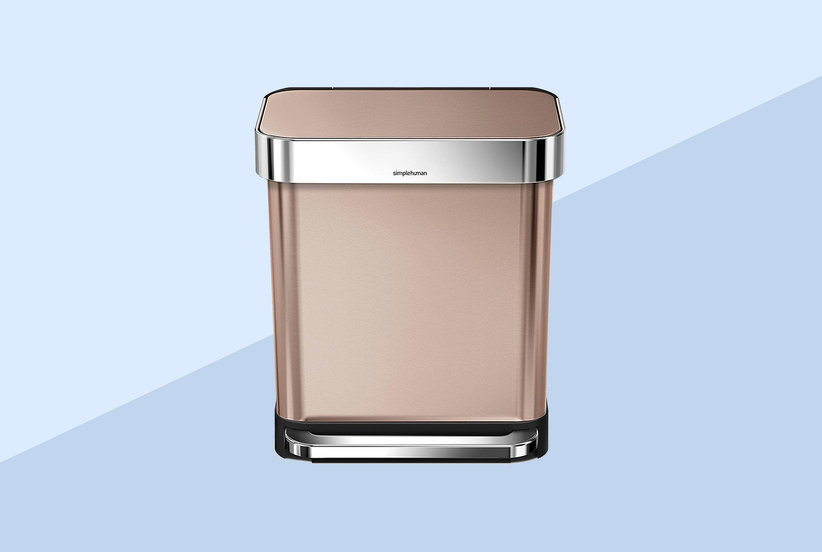 Thousands of Amazon Shoppers Are Obsessed With This Rose Gold Trash Can