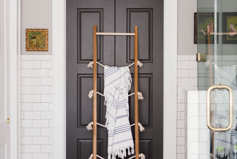 This DIY Organizing Storage Ladder Was Made For Small Spaces | Real Simple