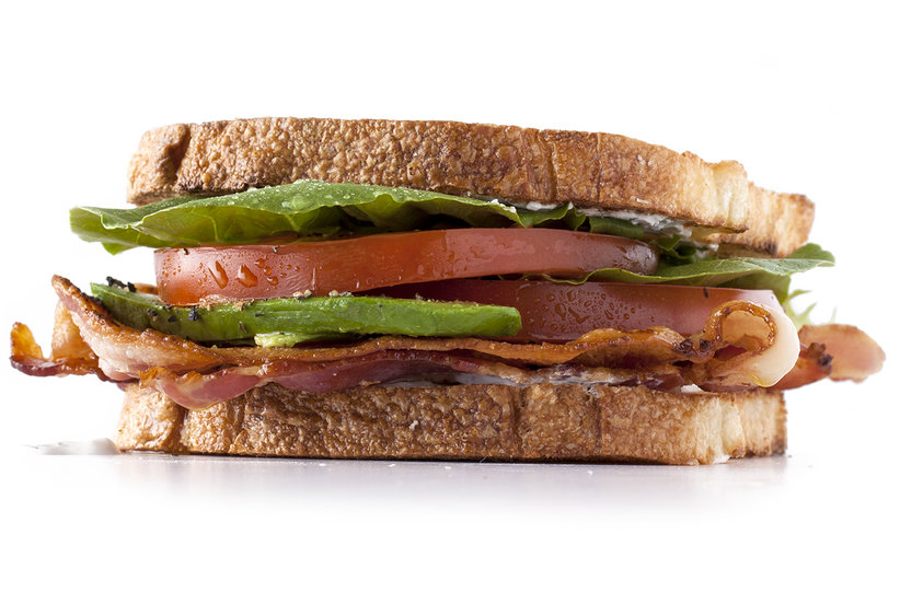 Tomato, Bacon, and Garlic Mayo Sandwich Recipe | Real Simple