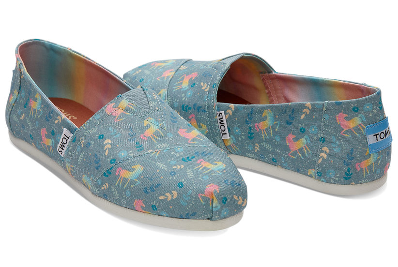 stop everything toms just launched unicorn shoes real simple