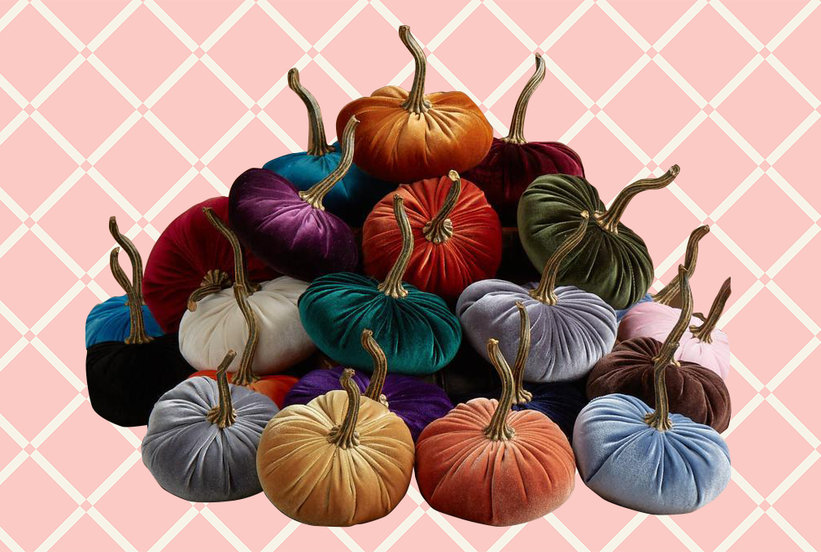Velvet Pumpkins Are Officially the Newest Fall Trend Your Home Is Missing